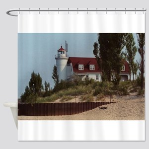 Pointe Betsie Lighthouse Shower Curtain