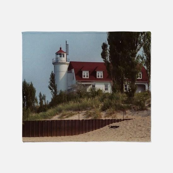 Pointe Betsie Lighthouse Throw Blanket