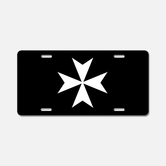 Knights Hospitaller Cross Aluminum License Plate