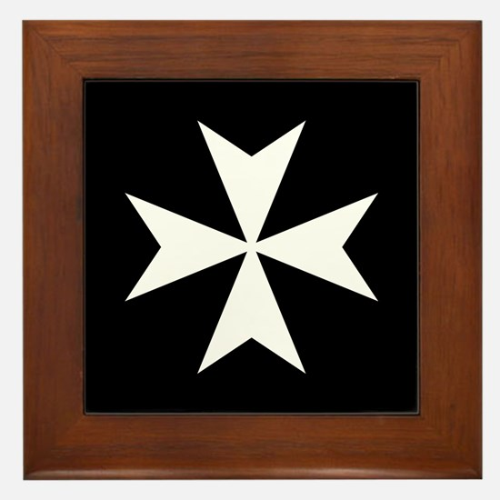 Knights Hospitaller Cross Framed Tile