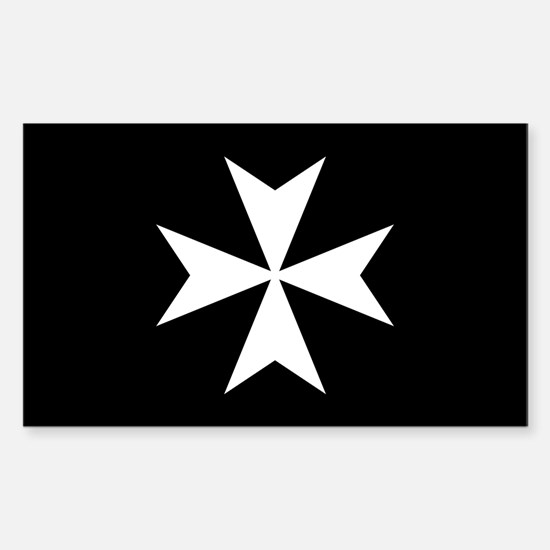 Knights Hospitaller Cross Sticker (Rectangle)