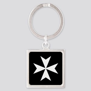 Knights Hospitaller Cross Square Keychain