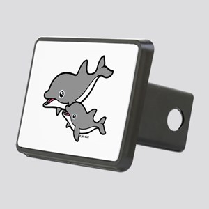 Dolphins Rectangular Hitch Cover