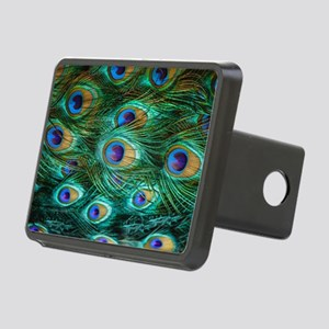 Peacock Feathers Rectangular Hitch Cover