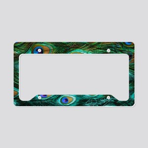 Peacock Feathers License Plate Holder