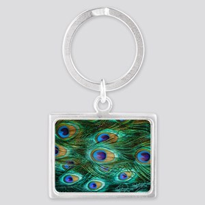 Peacock Feathers Landscape Keychain