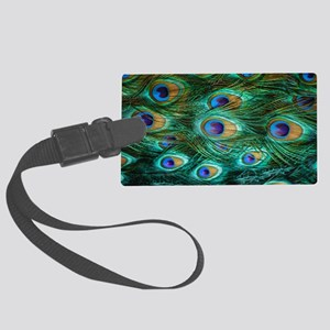 Peacock Feathers Large Luggage Tag