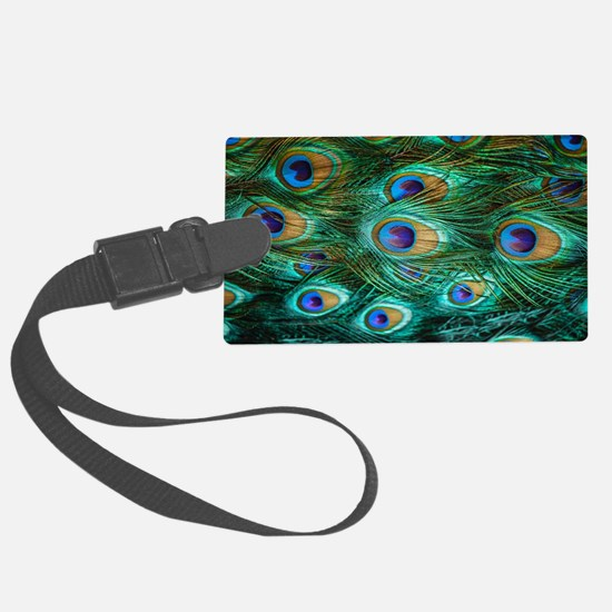 Peacock Feathers Luggage Tag