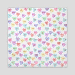 Candy Hearts Queen Duvet