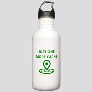 Just One More Cache Sports Water Bottle