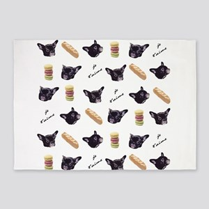 Je t'aime My Frenchie 5'x7'Area Rug