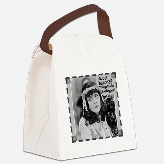 No Bacon, We Cry Canvas Lunch Bag