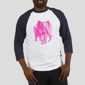Pink Elephant Illustration Baseball Jersey