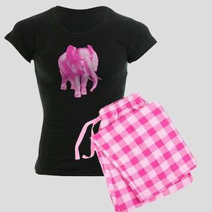 9c3867a26 Pink Elephant Illustration Women s Dark Pajamas