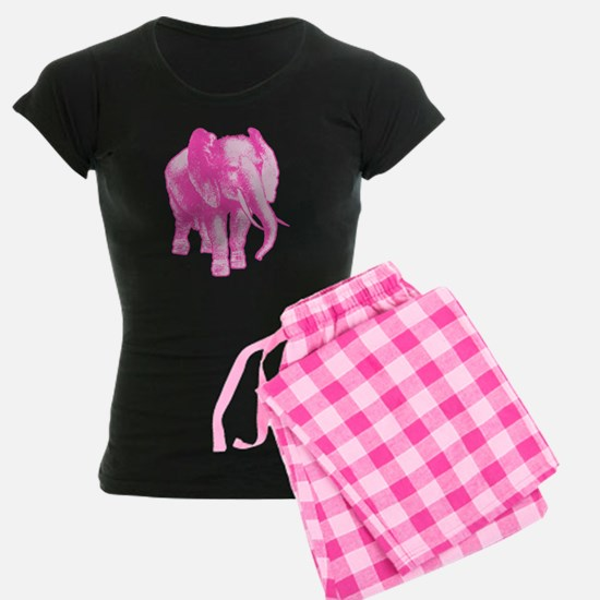 Pink Elephant Illustration Pajamas