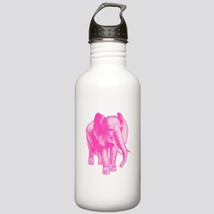 Pink Elephant Illustra Stainless Water Bottle 1.0L