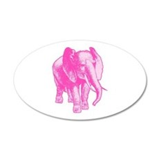 Pink Elephant Illustration Wall Decal