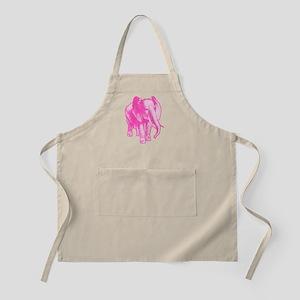 Pink Elephant Illustration Apron