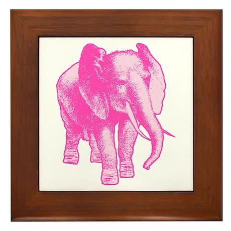Pink Elephant Illustration Framed Tile  sc 1 st  CafePress & Pink Elephant Wall Art - CafePress