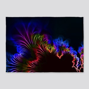 Rainbow Electric Current Wire 5'x7'Area Rug