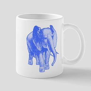 Blue Elephant Art Mug
