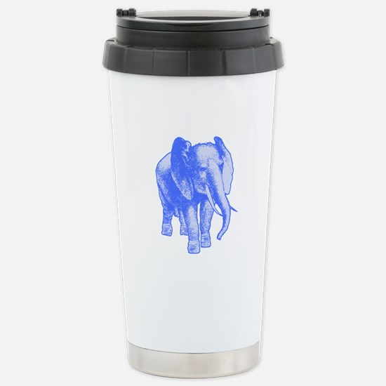 Blue Elephant Art Stainless Steel Travel Mug
