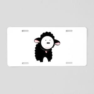 The Black Sheep Aluminum License Plate