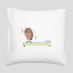 Bed Bug Square Canvas Pillow