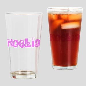Noelia Flower Design Drinking Glass