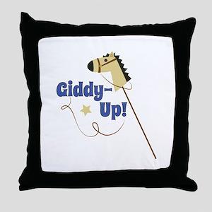 Giddy Up Throw Pillow