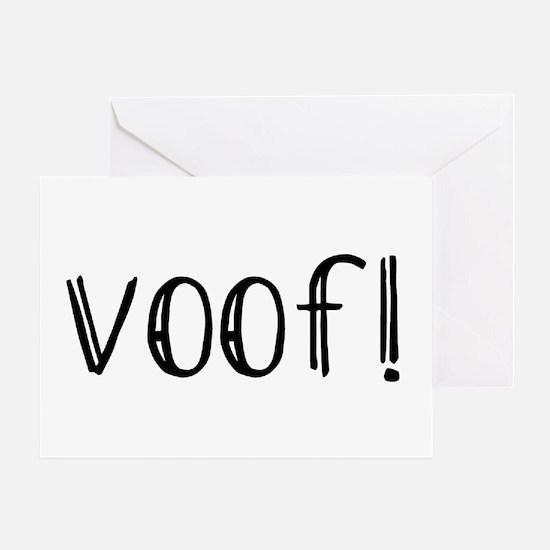 Voof Greeting Card