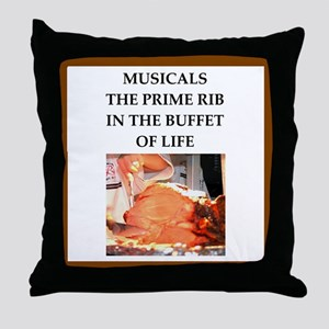 musicals Throw Pillow