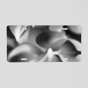 Art Deco Black and White Aluminum License Plate