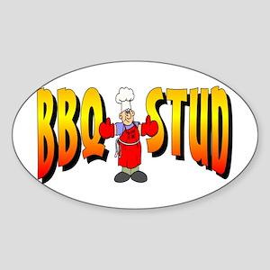 BBQ Stud Oval Sticker
