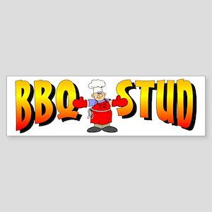 BBQ Stud Bumper Sticker