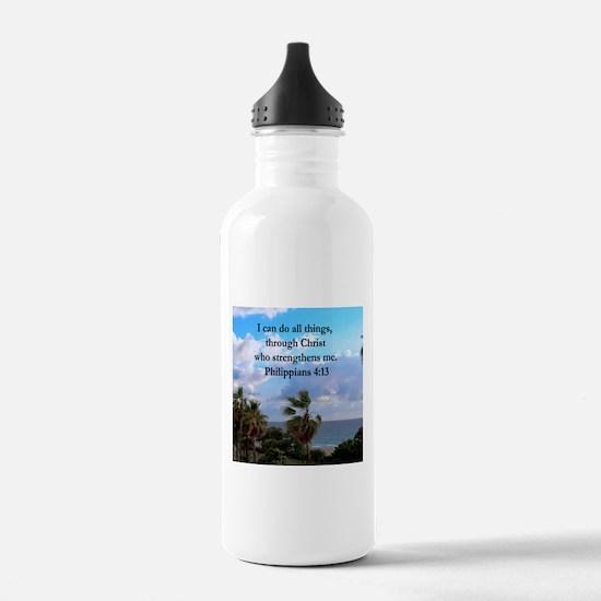 PHILIPPIANS 4:13 Water Bottle