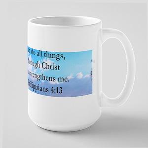 PHILIPPIANS 4:13 Large Mug