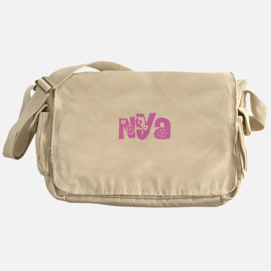 Nya Flower Design Messenger Bag