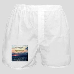 PHILIPPIANS 4:13 Boxer Shorts