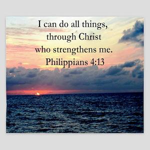 PHILIPPIANS 4:13 King Duvet