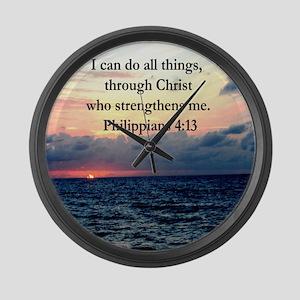 PHILIPPIANS 4:13 Large Wall Clock