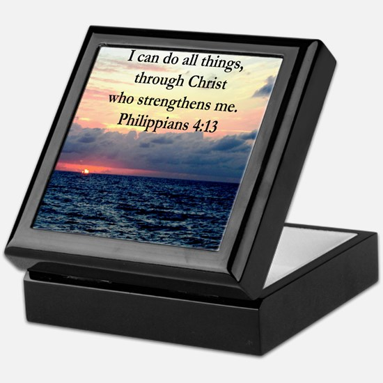 PHILIPPIANS 4:13 Keepsake Box