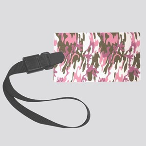Pink Army Camouflage Luggage Tag