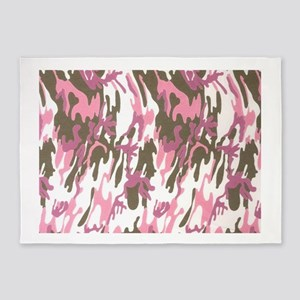 Pink Army Camouflage 5'x7'Area Rug