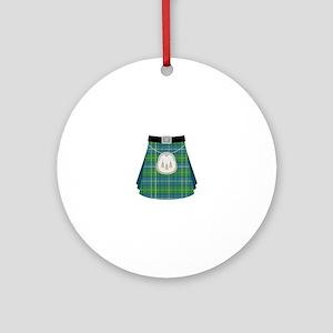 Scottish Kilt Ornament (Round)