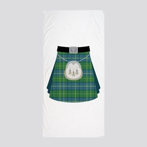 Scottish Kilt Beach Towel