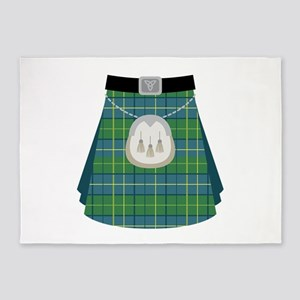 Scottish Kilt 5'x7'Area Rug