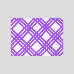Lavender Gingham Plaid 5'x7'Area Rug
