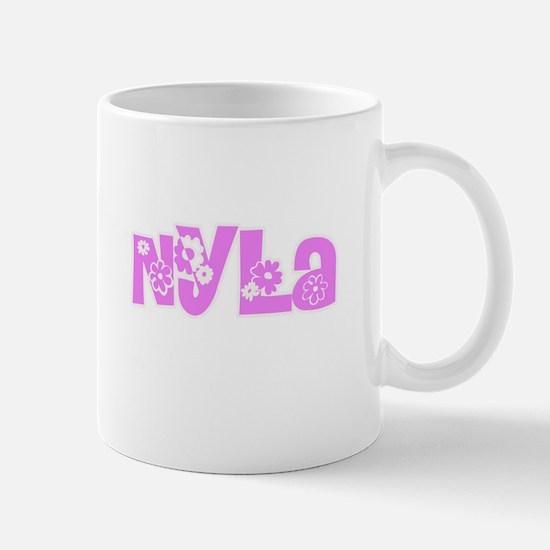 Nyla Flower Design Mugs