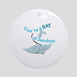 You're A Ray Of Sunshine Ornament (Round)